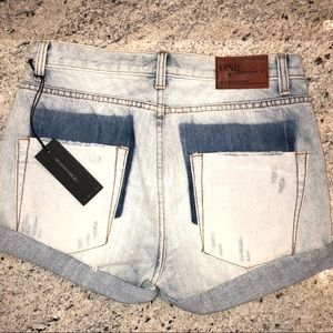 ONE TEASPOON Chargers Denim Distressed Shorts